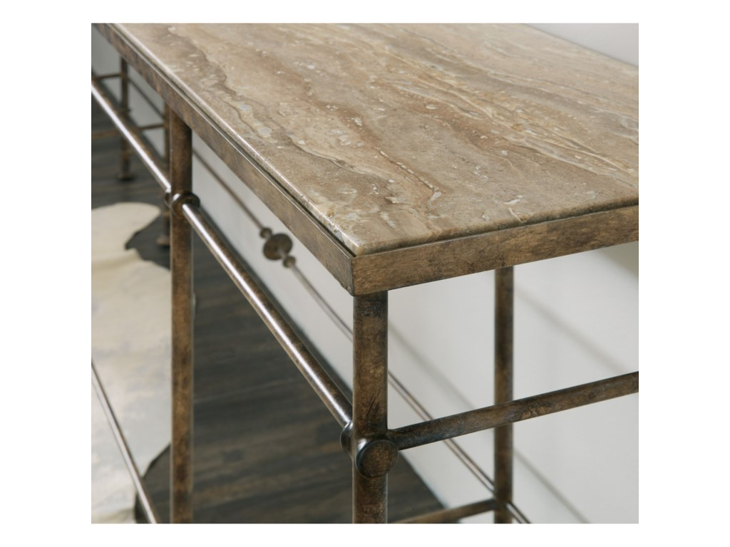 Hooker Furniture La GrangeSt James Metal and Stone Console