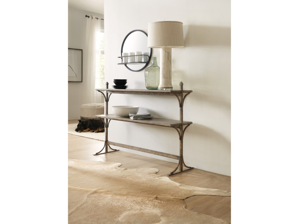 Hooker Furniture La GrangeSouth 77 Metal and Wood Console