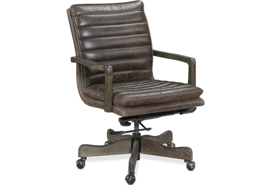 Hooker Furniture Langston Ec574 097 Contemporary Executive Home Office Chair Dunk Bright Furniture Executive Desk Chairs