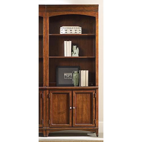 Hooker Furniture Latitude Walnut Transitional Bunching Bookcase