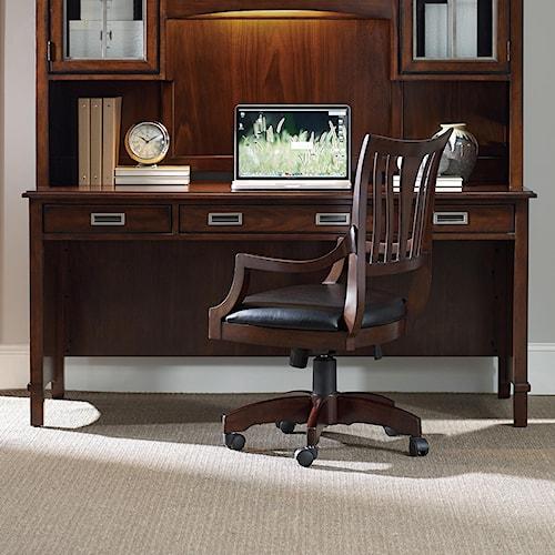 Hooker Furniture Latitude Walnut New-Vintage Shell Desk with Keyboard Tray