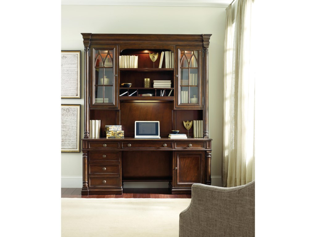 Hooker Furniture LeesburgComputer Credenza Hutch