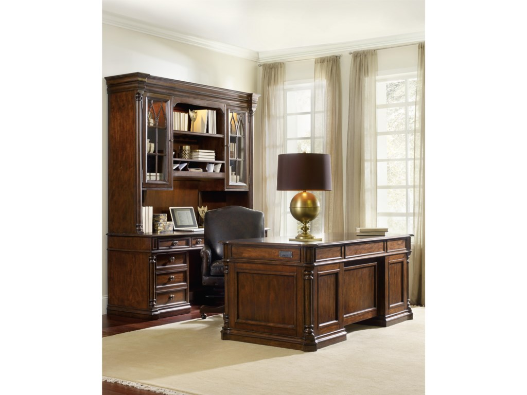 Hooker Furniture LeesburgComputer Credenza Hutch