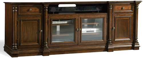 Hooker Furniture Leesburg Entertainment Console with Center Speaker Space