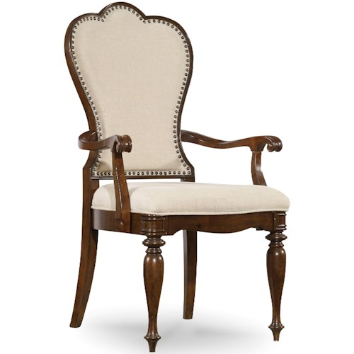Hooker Furniture Leesburg Upholstered Arm Chair with Nail Head Trim