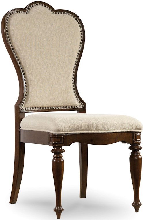 Hooker Furniture Leesburg Upholstered Side Chair with Nail Head Trim