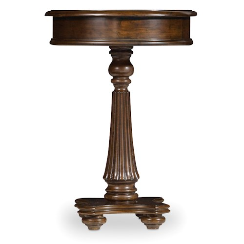 Hooker Furniture Leesburg Martini Table with Fluted Pedestal