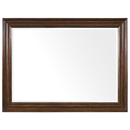 Hooker Furniture Leesburg Landscape Mirror with Mahogany Veneers
