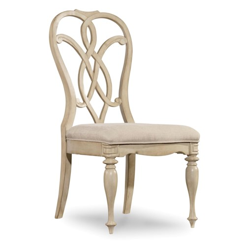 Hooker Furniture Leesburg Splatback Side Chair with Traditional Style