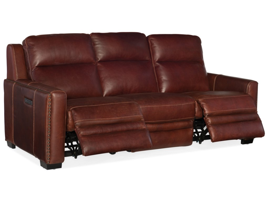 Hooker Furniture LincolnPower Motion Sofa with Pwr Headrest & Lumbar