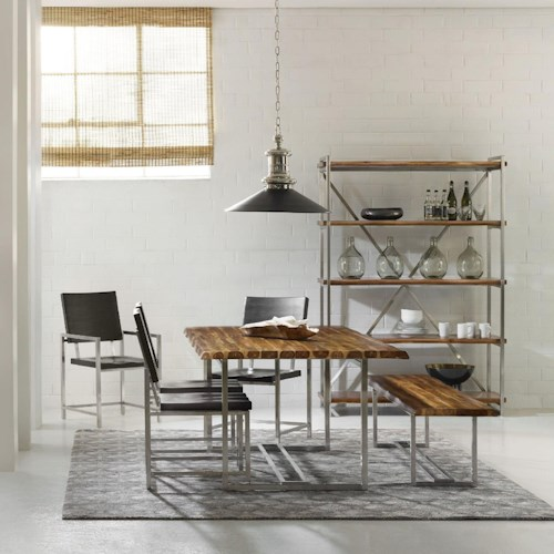Hooker Furniture Live Edge Contemporary Dining Room Group