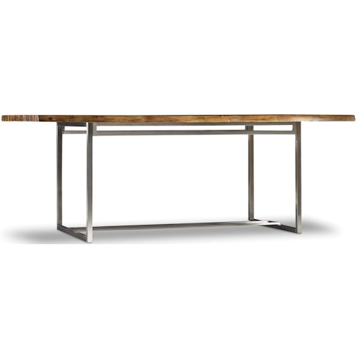 Hooker Furniture Live Edge Rectangular Dining Table with Live Edge
