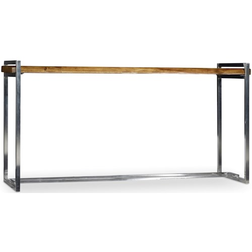 Hooker Furniture Live Edge Console Table with Rustic Wood Table Top