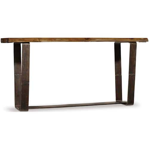 Hooker Furniture Live Edge Rustic Console Table with Live Edge