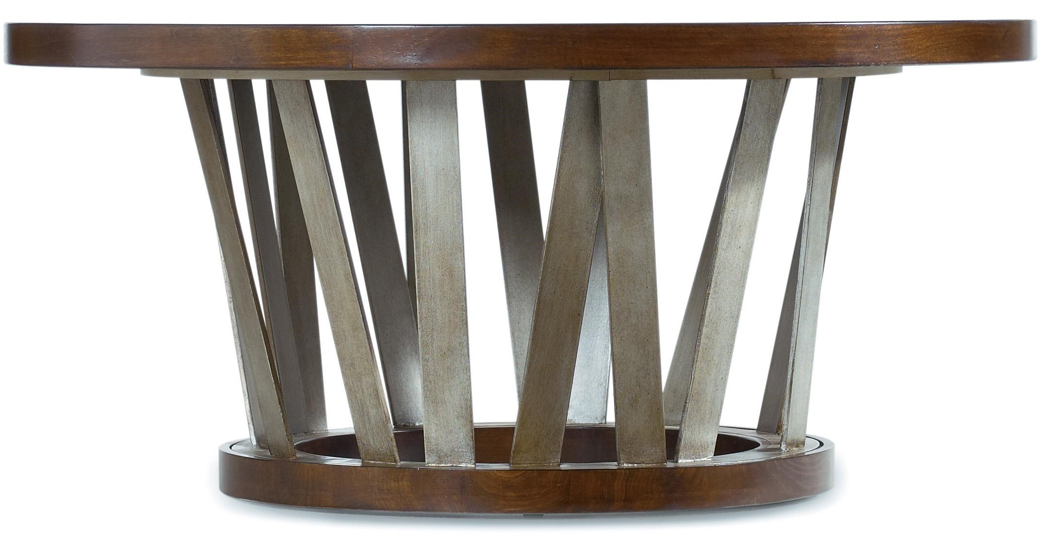 Hooker Furniture Lorimer 42 Inch Round Cocktail Table With Asymmetrical  Metal Base