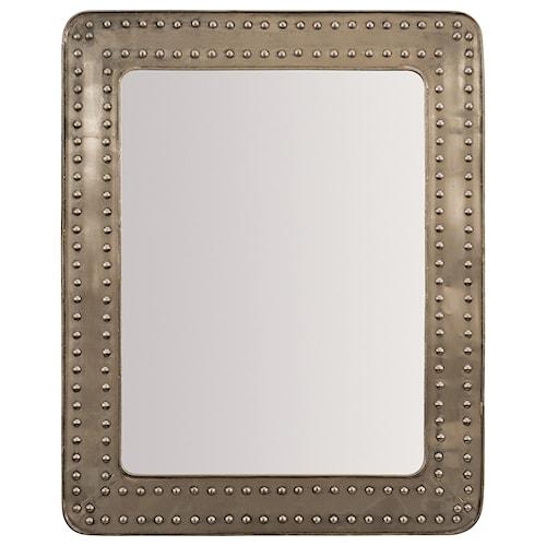 Hooker Furniture L'Usine Rectangular Mirror with Riveted Metal Frame
