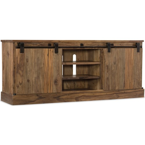 Hooker Furniture L'Usine Entertainment Console with Sliding Door