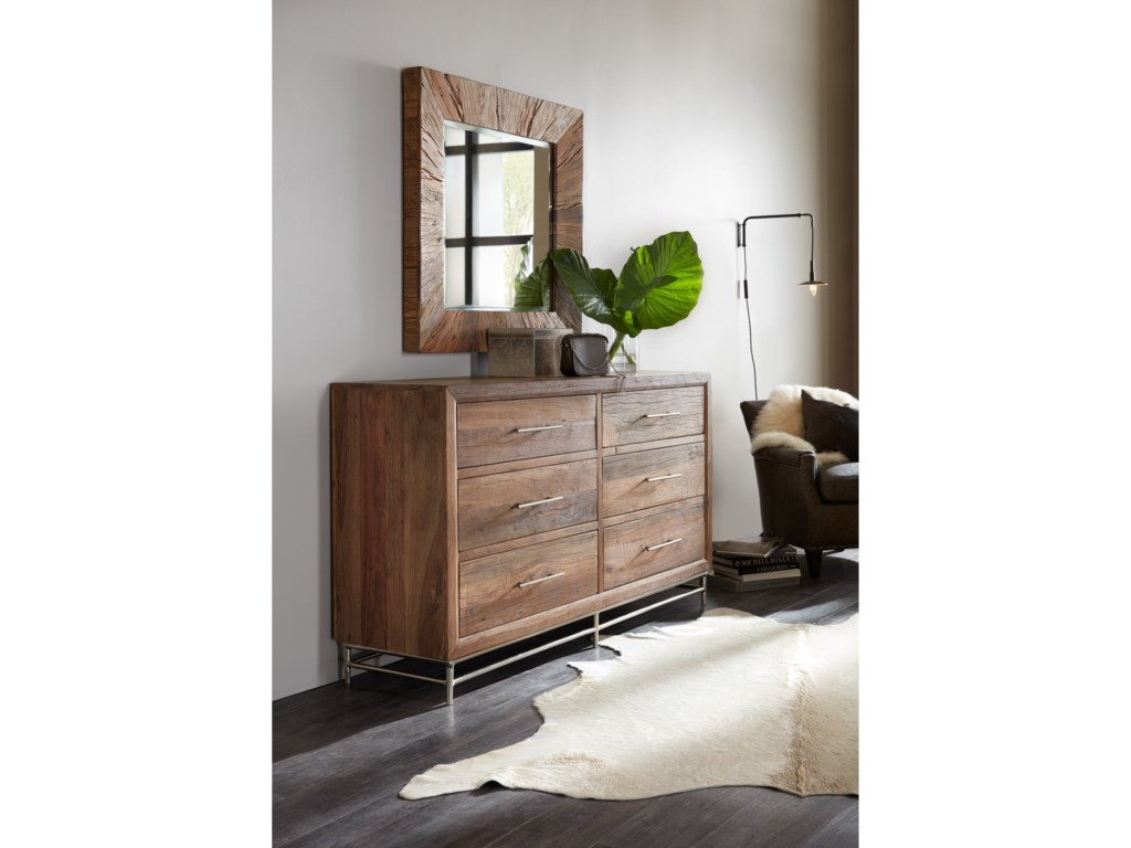 Hooker Furniture L'Usine6 Drawer Dresser