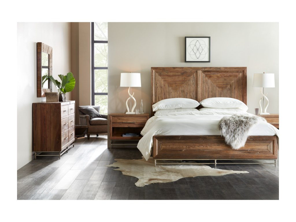 Hooker Furniture L'UsineKing Panel Bed