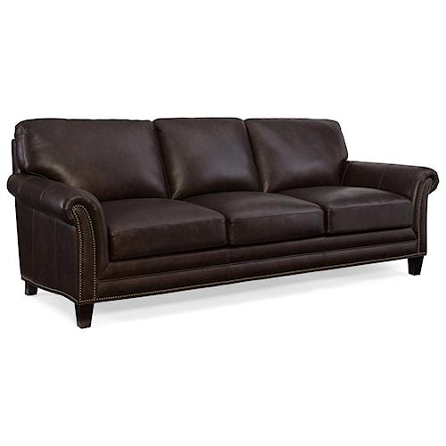 Hooker Furniture Marriott Stationary Sofa with Nailhead Trim