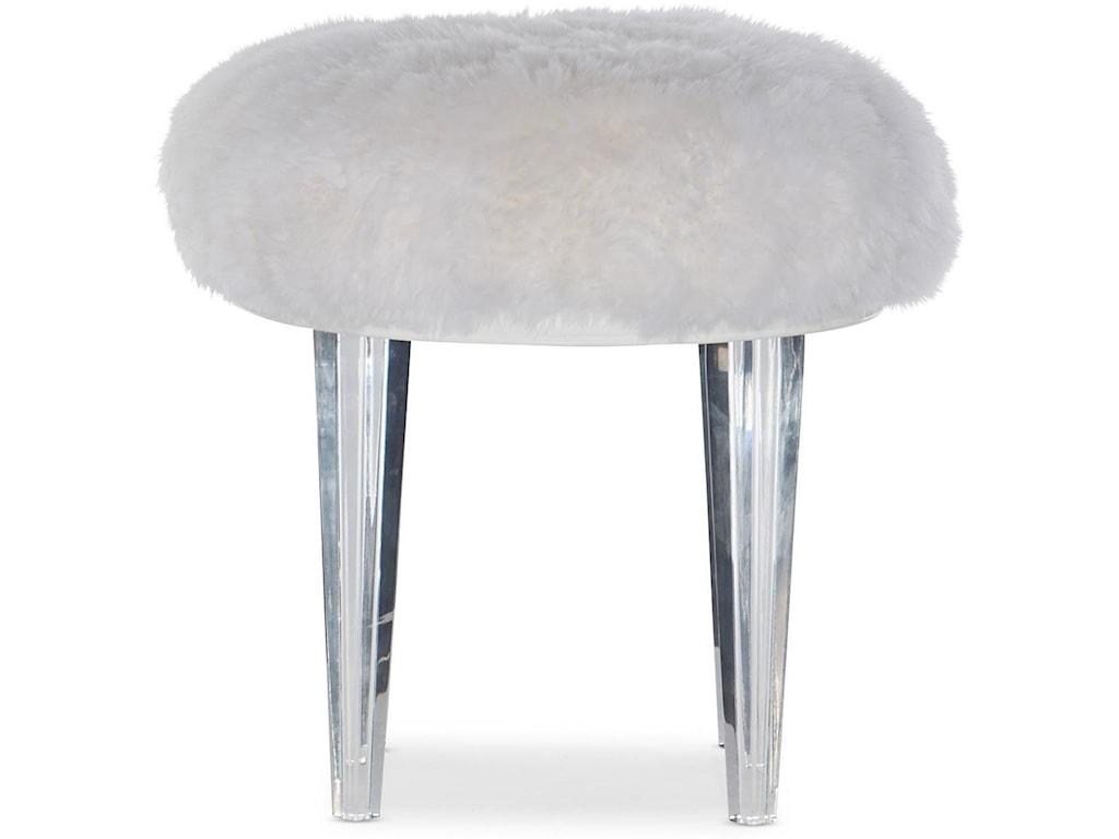 Hooker Furniture MelangeAcrylic Leg Pouf/Stool