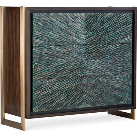 Ophelia Three-Drawer Turquoise Chest