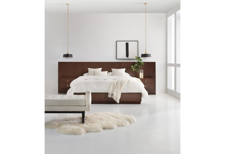 Hooker Furniture Melange Bedroom King Contemporary Wall Bed With Nightstand Piers Lindy S Furniture Company Pier Beds,Rustic French Country Bedroom Furniture