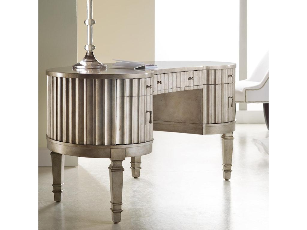 Hooker Furniture MélangeFluted Kidney Desk