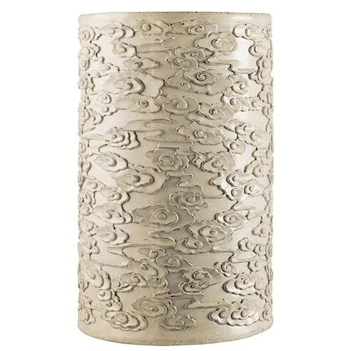 Hooker Furniture Mélange Flowered Ivory Drum Table