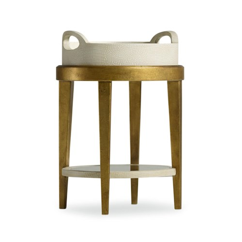Hooker Furniture Mélange Gilded Accent Table with Removable Tray