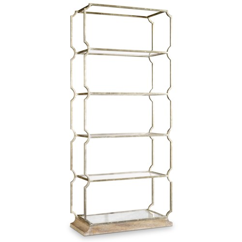 Hooker Furniture Mélange Carter Metal Etagere with 5 Shelves