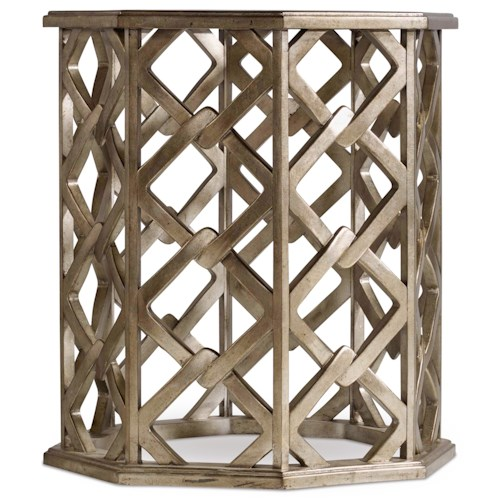 Hooker Furniture Mélange Nico End Table with Glass Top