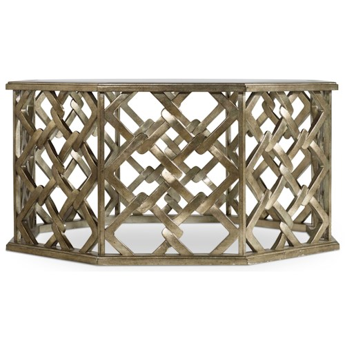 Hooker Furniture Mélange Nico Octagon Cocktail Table with Square Motif