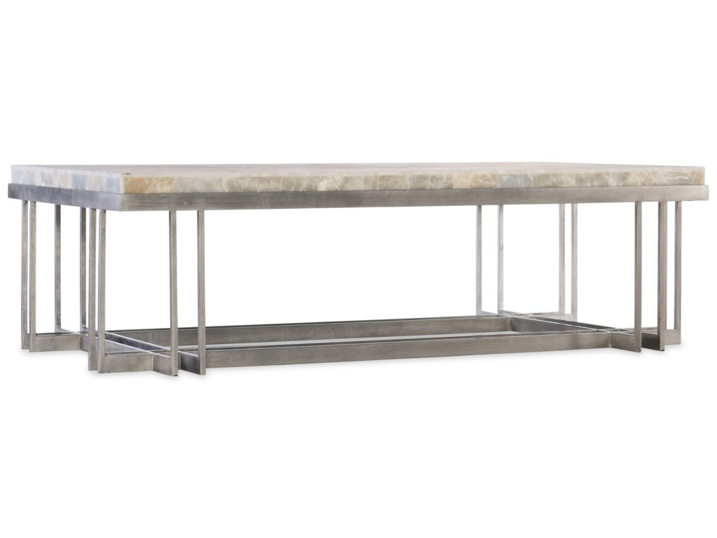 Hooker Furniture MelangeRectangle Cocktail Table with Metal Base