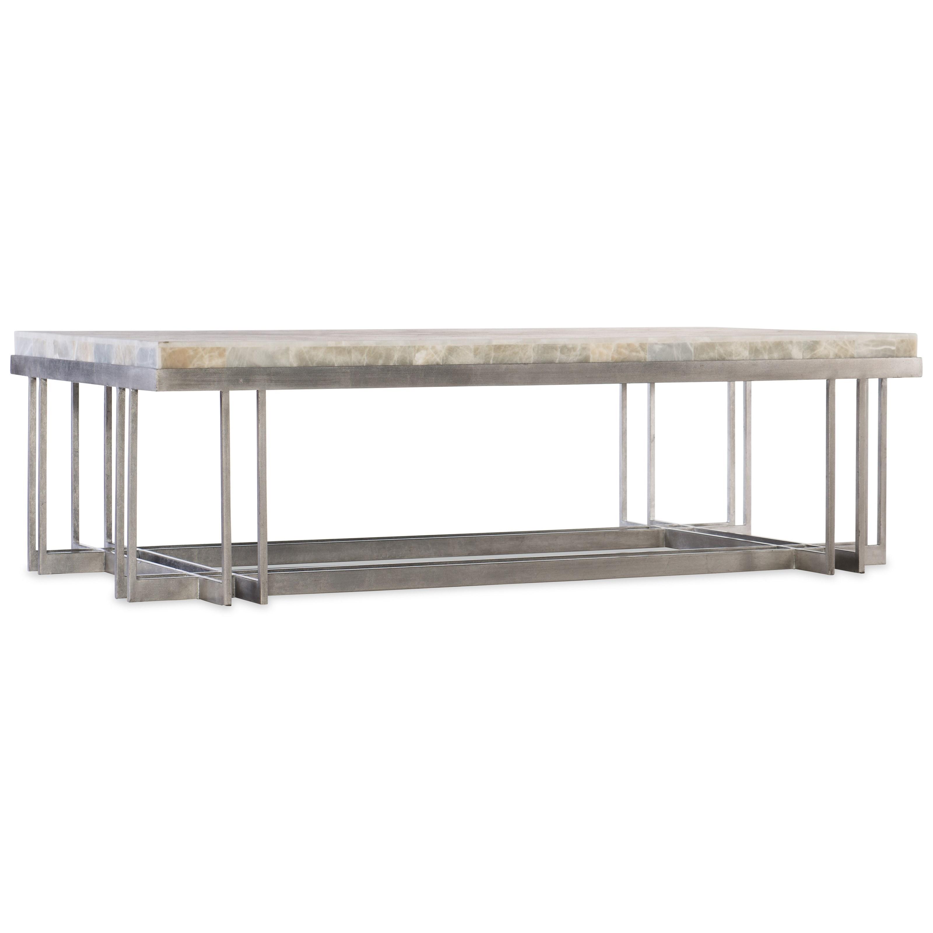 Hooker Furniture MelangeRectangle Cocktail Table With Metal Base ...