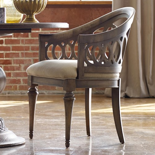 Hooker Furniture Mélange Cambria Dining Chair with Interlocking Fretwork