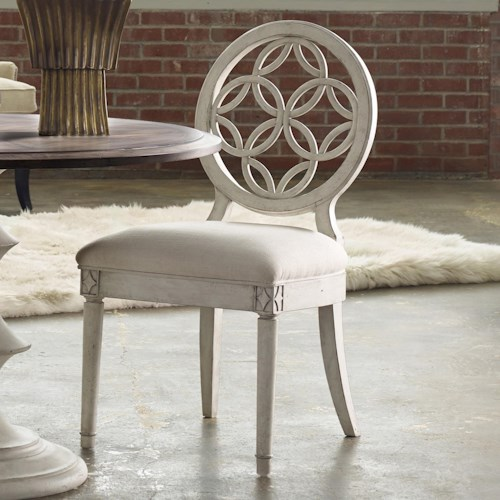 Hooker Furniture Mélange Brynlee Side Chair with Circle Fretwork Pattern
