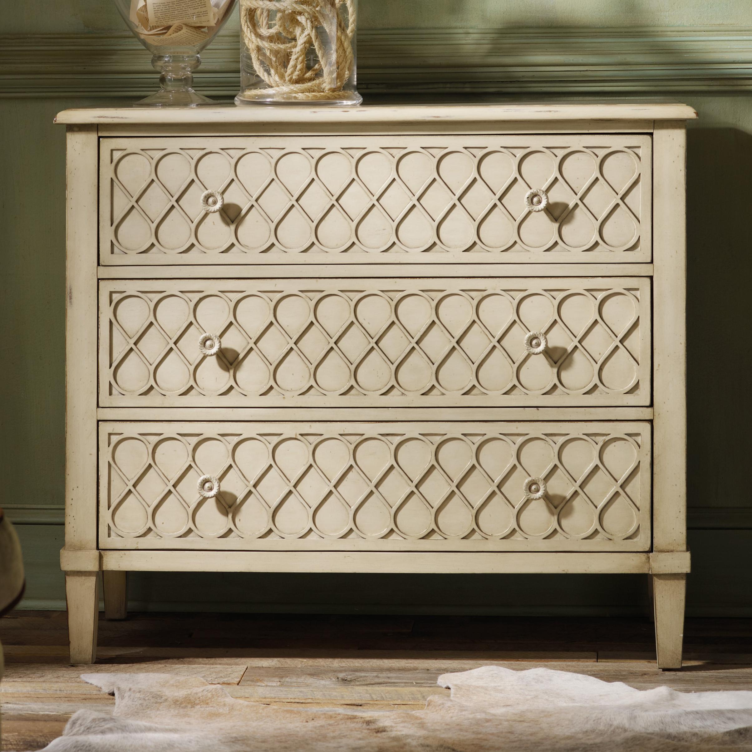 Hooker Furniture Mélange Raised Lattice Front 3 Drawer Chest