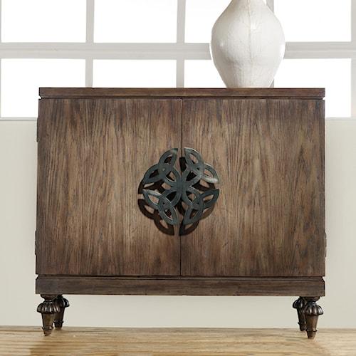 Hooker Furniture Mélange Savion Door Chest with Oversized Celtic Emblem Hardware