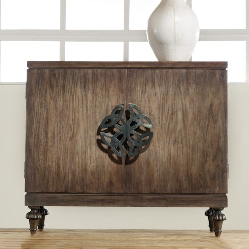 Hooker Furniture Mélange Savion Door Chest with Oversized Celtic Emblem Hardware