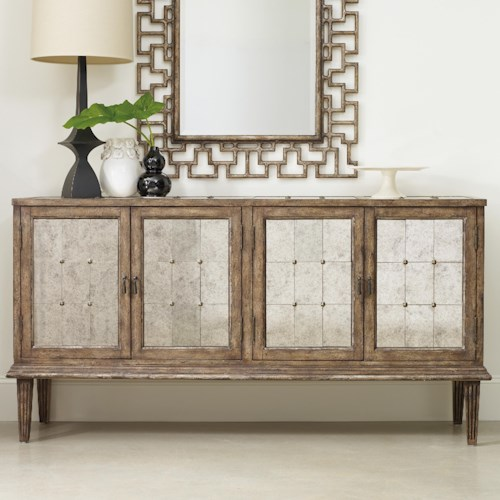 Hooker Furniture Mélange DeVera Mirrored Console with 4 Doors