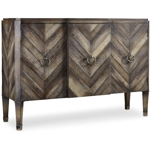 Hooker Furniture Mélange 3 Door Chevron Console
