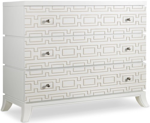 Hooker Furniture Mélange Descanso Chest with 3 Drawers