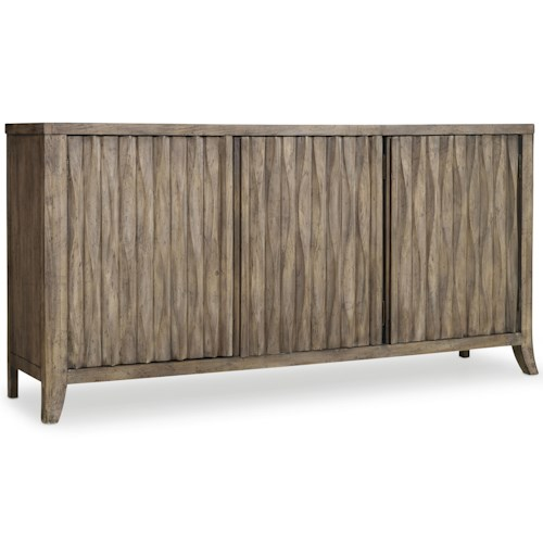 Hooker Furniture Mélange 3 Door Kashton Credenza with Basket Weave Detail