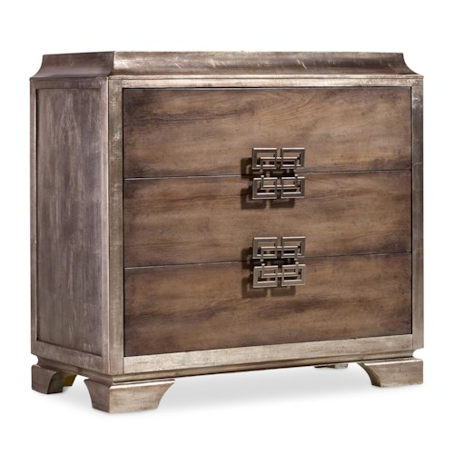 Hooker Furniture Mélange Lambert Chest with 3 Drawers