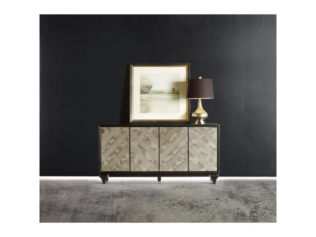 Hooker Furniture MélangeMirrored Angle Console