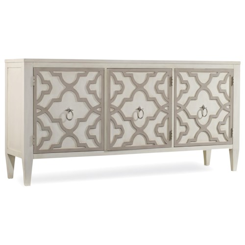 Hooker Furniture Mélange Miranda Credenza with Graphic Wood Overlay