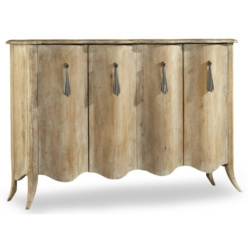 Hooker Furniture Mélange Draped Credenza with 4 Doors