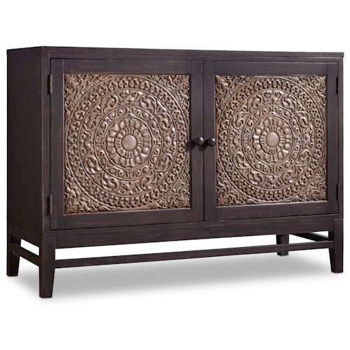 Hooker Furniture Mélange Matisette 2 Door Chest with Carved Front