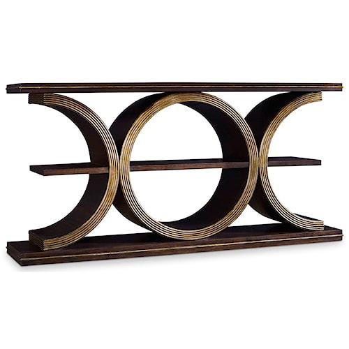 Hooker Furniture Mélange Presidio Console Table with Shelf